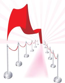 Free Abstract Wavy Red Carpet Royalty Free Stock Photography - 7715327
