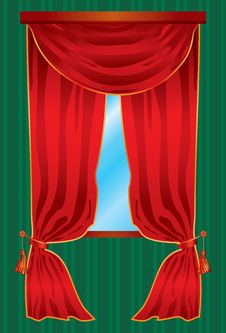 Free Curtain Window Stock Images - 7715534