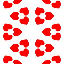 Free Seamless Valentines Pattern Royalty Free Stock Photo - 7715825
