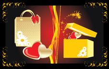 Free Gifts To The Valentines Day Royalty Free Stock Image - 7716226