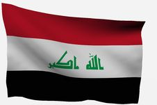 Free Iraq 3D Flag Stock Images - 7716234