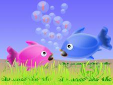 Love Fish (04) Royalty Free Stock Image