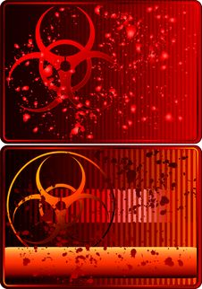Free Cards With Biohazard Sign Stock Photo - 7716430