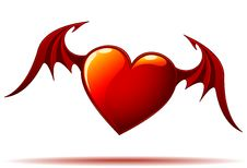 Free Red Heart With Wings Stock Photo - 7716460