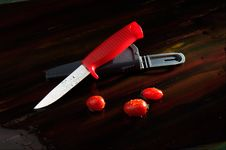 Free TOMATO AND KNIFE Royalty Free Stock Photo - 7716465