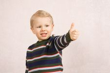Free Boy With Thumb Up Stock Photo - 7717610