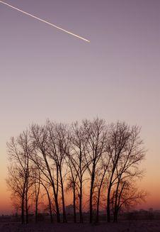 Free Urban Winter Sunset Stock Photography - 7717732