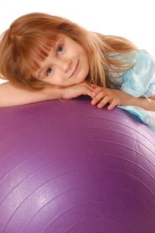 Free Lying On A Ball Stock Photography - 7718072