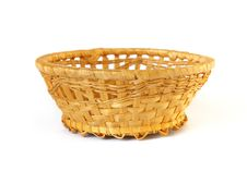 Free Woven Basket Isolated Royalty Free Stock Photos - 7718288