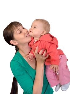 Free Baby With Mom Stock Photography - 7718322