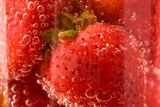 Close Up Picture Of Strawberries In Glass Stock Photography