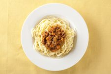 Free Spaghetti Bolognese Royalty Free Stock Photography - 7718447