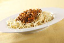 Free Spaghetti Bolognese Stock Photo - 7718460