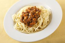 Free Spaghetti Bolognese Royalty Free Stock Photography - 7718487