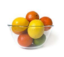 Free Bowl Of Citrus Fruits Royalty Free Stock Photos - 7718488
