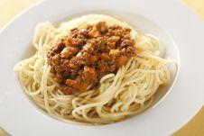 Free Spaghetti Bolognese Royalty Free Stock Image - 7718656