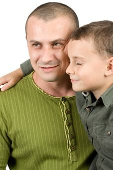 Free Father And Son Portrait Royalty Free Stock Image - 7718826