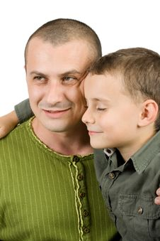 Free Father And Son Portrait Royalty Free Stock Photography - 7718827