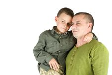 Free Father And Son Portrait Royalty Free Stock Image - 7718836