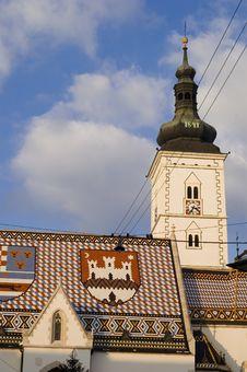 Zagreb Church Tower Royalty Free Stock Photos