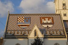 Free Zagreb Church Rooftop Royalty Free Stock Images - 7719089