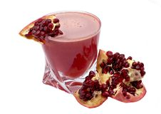 Free Pomegranate And Garnet Juice In A Glass Stock Image - 7719231