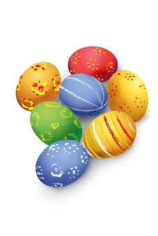 Free Colored Easter Eggs Stock Images - 7719364