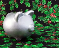 Free Holiday Piggy Royalty Free Stock Images - 7719619