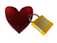 Free Locked Heart Royalty Free Stock Photo - 7719815