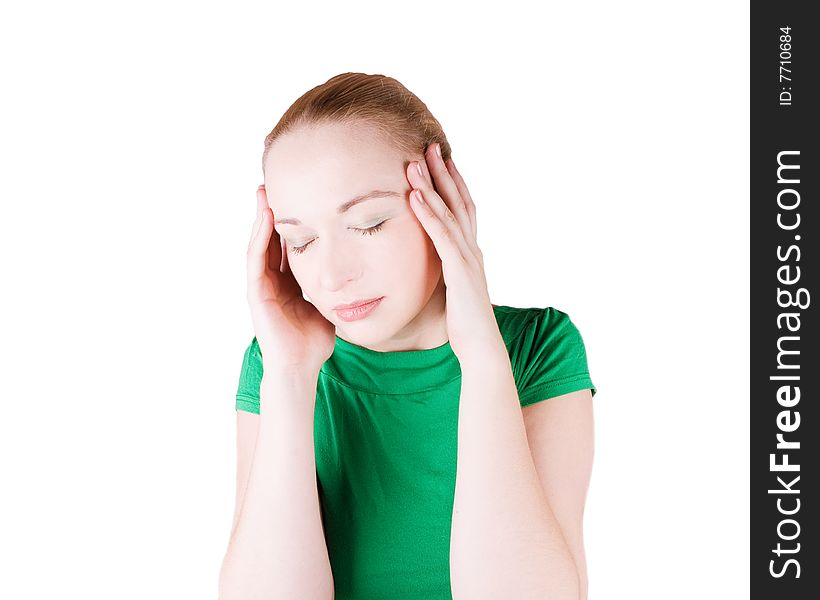 Woman With Headache Free Stock Images Photos 7710684 Stockfreeimages Com