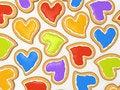 Free Multicoloured Heart Cookies Stock Photos - 7729243