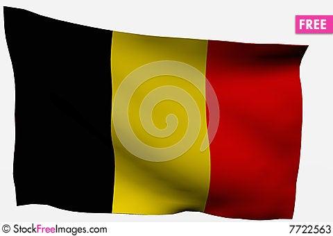 Free Belgium 3d Flag Stock Photos - 7722563