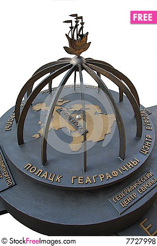 The centre of Europe in Polotsk. Stock Photo