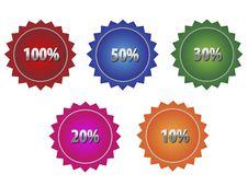 Free Discount Tags Set. Royalty Free Stock Photography - 7720287
