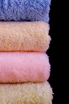 Free Colorful Towels Isolated Stock Photos - 7720383