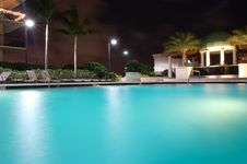 A Night At The Pool Royalty Free Stock Photos