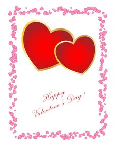 Free Valentine S Day Card. Stock Image - 7720641