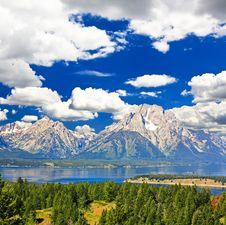 Free The Landscape Of Grand Teton National Park Royalty Free Stock Photography - 7720747