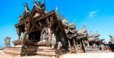 Free Attracting Pattaya The Santuary Of Truth Thailand. Royalty Free Stock Photo - 7721425