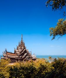Free Attracting Pattaya The Santuary Of Truth Thailand. Royalty Free Stock Photography - 7721437