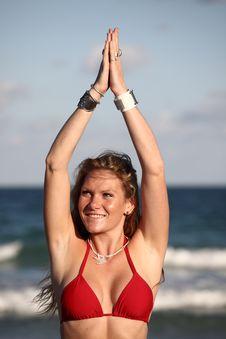 Free Woman On The Beach Stock Photos - 7721483