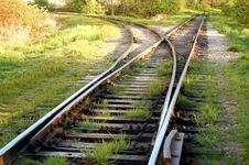 Curvy Railway Tracks Stock Photo