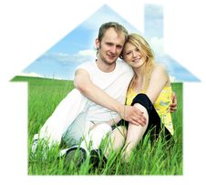 Free Man And Woman In Green Field Stock Photos - 7721643