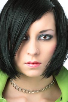 Free Portrait Of Emo Girl Royalty Free Stock Photography - 7721677