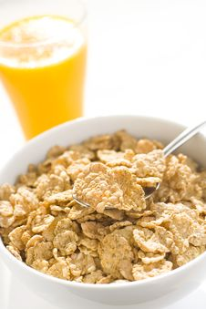 Free Bowl Of Cereal With Raisins Stock Image - 7721801