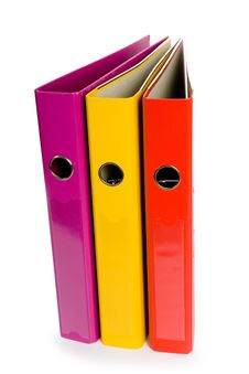 Free Three Folders On White Stock Photo - 7722560