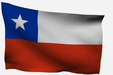 Free Chile 3D Flag Stock Image - 7722611