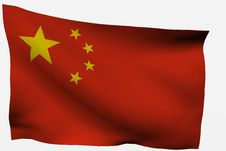 Free Chinese 3D Flag Royalty Free Stock Photo - 7722615