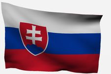 Free Slovakia 3d Flag Stock Images - 7722664