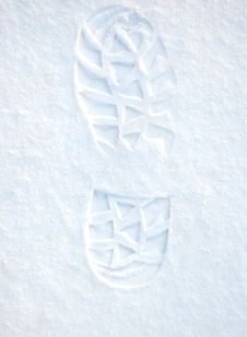 Free Footprint On Clean Snow Stock Photo - 7722710